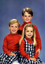 Ben Whitehair Christmas Card with Siblings