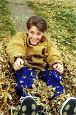 Ben Whitehair Jumps in Leaves 1998